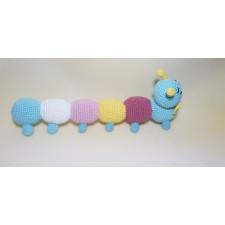 Cute Colorful Caterpillar - Amigurumi Crocheted Handmade Toy %100 Organic