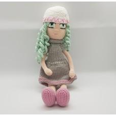 Curly Girl - Amigurumi Crocheted Handmade Stuffed Doll